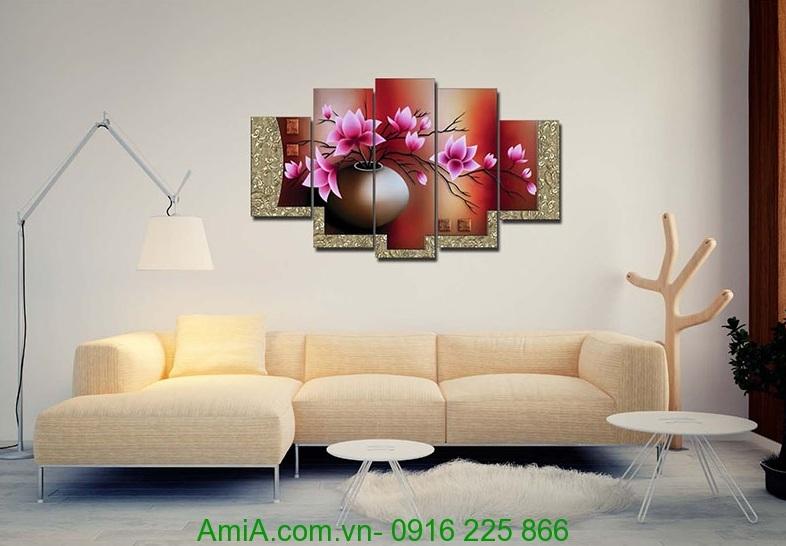 Hình ảnh mẫu tranh treo tường phòng khách đẹp