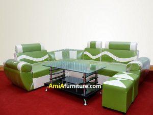 Bộ sofa nhỏ phòng khách mầu xanh cốm