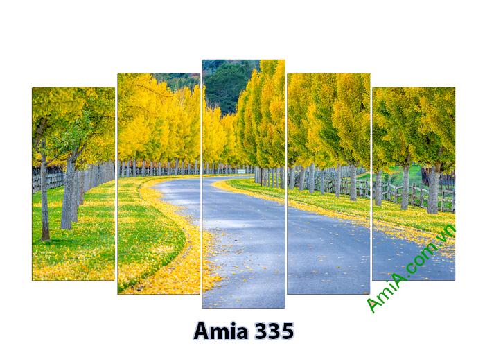 Mẫu tranh phong cảnh mùa thu vàng ghép hiện đại bán buôn tại xưởng sản xuất