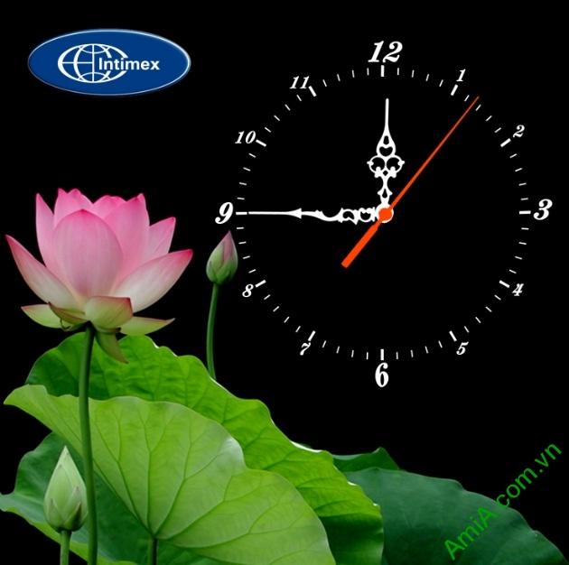 Tranh đồng hồ gắn logo