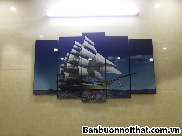 Hình ảnh tranh thuận buồm xuôi gió treo tường ốp gỗ