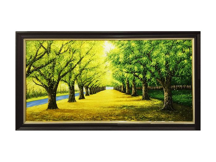 Tranh vẽ con đường cây đẹp mê hồn
