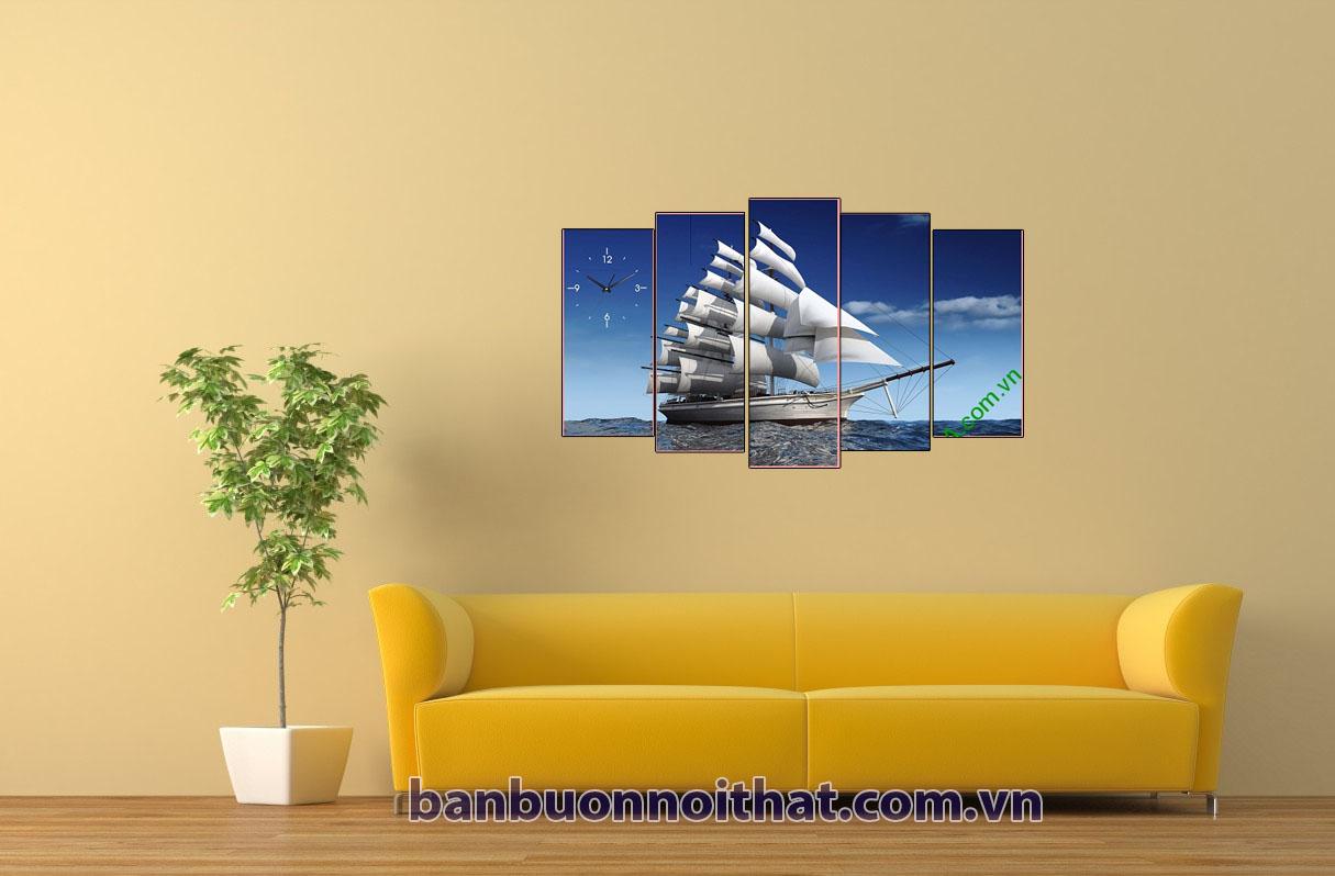 xưởng sản xuất tranh thuận buồm xuôi gió