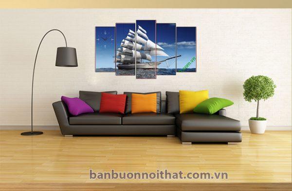 Tranh thuận buồm xuôi gió hợp trang trí hướng Đông và hướng Đông Nam
