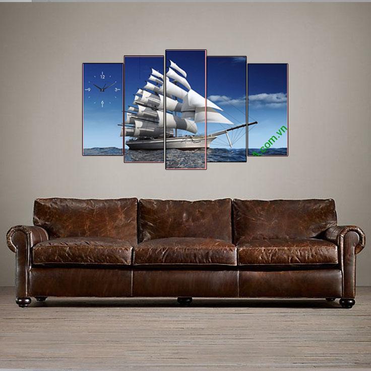 Tranh thuận buồm xuôi gió khi kết hợp với sofa da tại văn phòng
