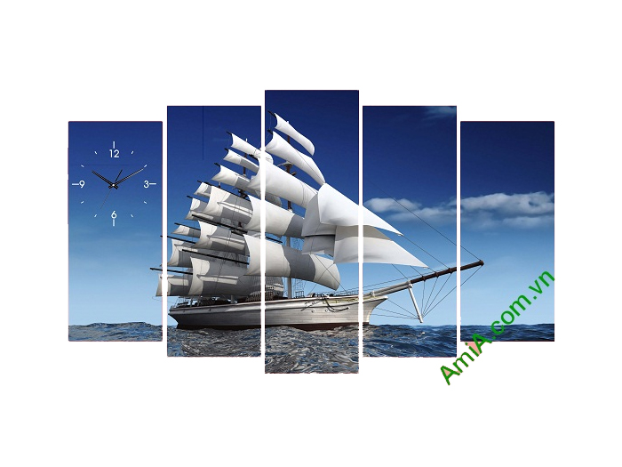 Tranh thuận buồm xuôi gió là một trong các mẫu tranh đẹp được nhiều khách lựa chọn nhất.