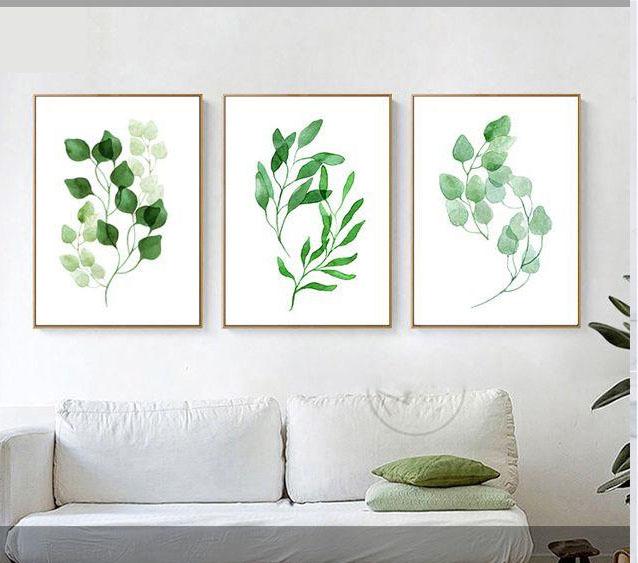 Tranh in hình lá cây đang là xu hướng trang trí nội thất được nhiều người lựa chọn