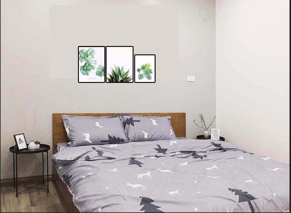 Tranh canvas trang trí phòng ngủ hiện đại