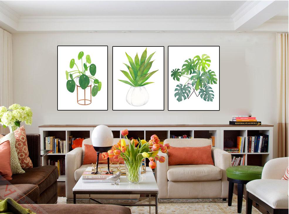 Mẫu tranh in canvas tại xưởng tranh kích thước 40x50x3 giá 650k/ bộ