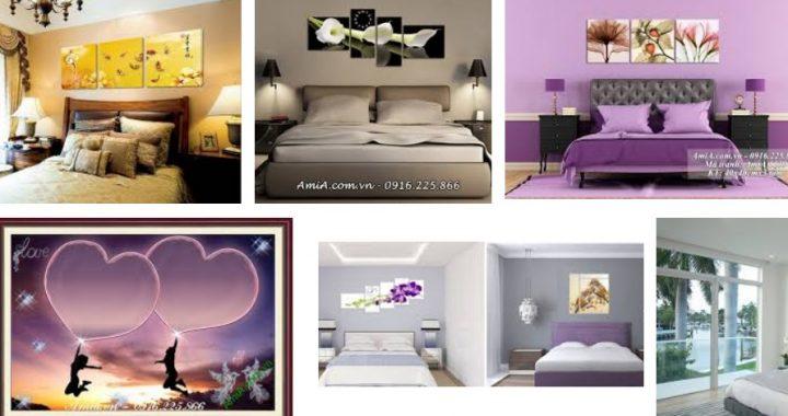 Các mẫu tranh treo phòng ngủ được bán buôn tại xưởng tranh Amia