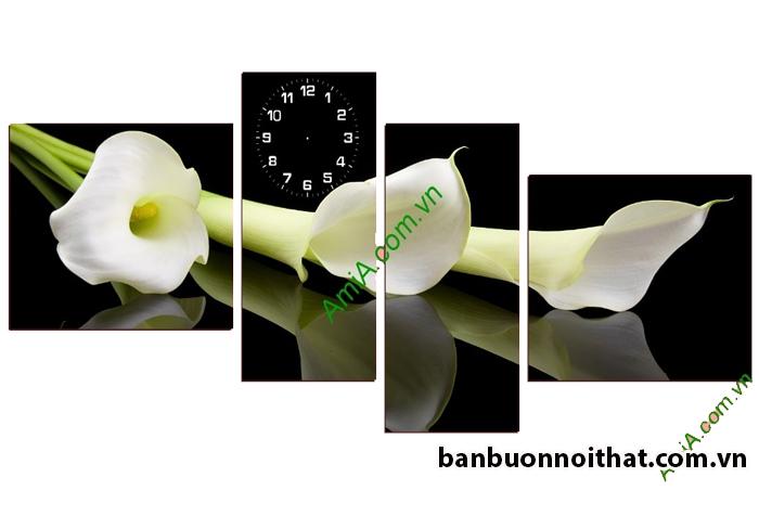 Ảnh hoa rum dùng làm tranh đồng hồ in ép gỗ trang trí tường yêu thích