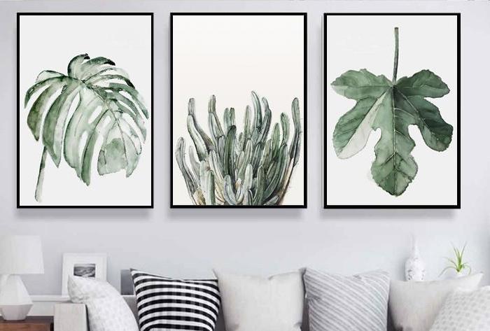 Mẫu tranh canvas lá cây được yêu thích trong thời gian qua