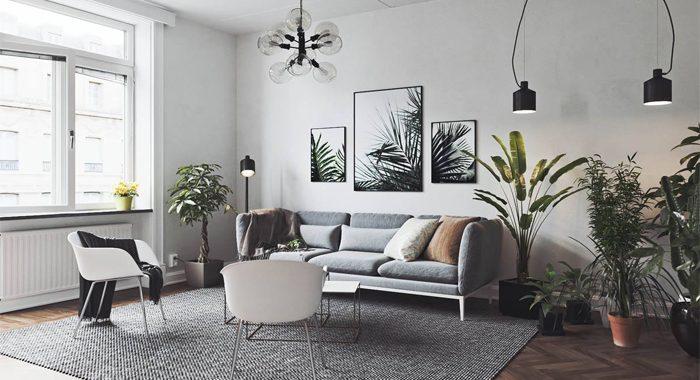 Tranh trang trí nội thất đen trắng cho tổ ấm trẻ