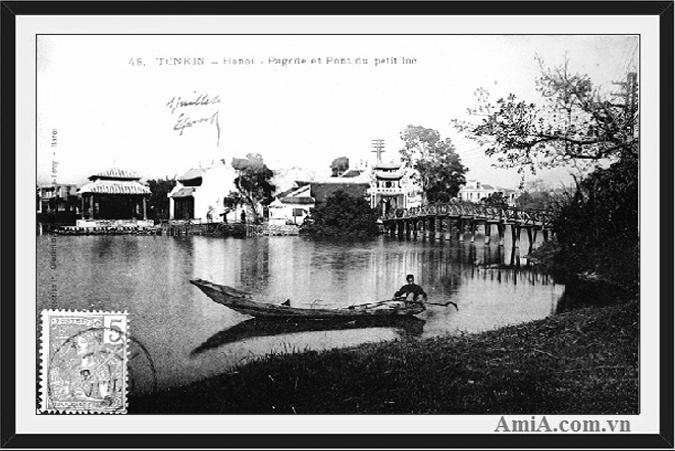 Cầu Thê Húc đền Ngọc Sơn giúp bức tranh về Hà Nội xưa hoàn thiện hơn