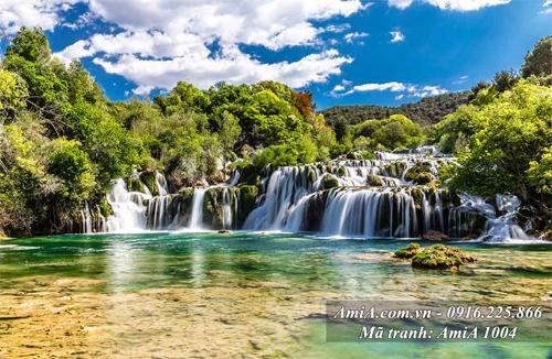 Tranh phong cảnh thác nước bản giốc