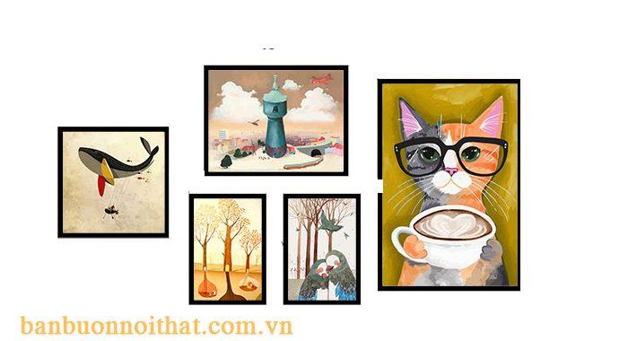 Tranh trang trí quán cà phê, quán trà sữa đẹp