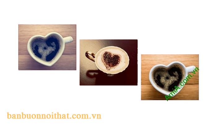 Tranh ly cà phê trang trí tường quán cà phê văn phòng