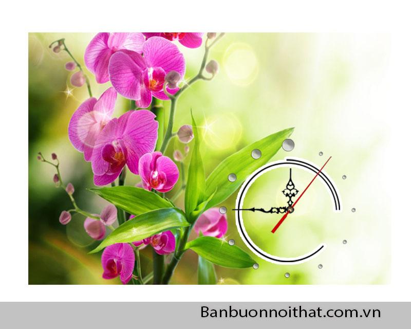 Tranh đồng hồ hoa la được bán buôn, bán sỉ tại Xưởng tranh Amia