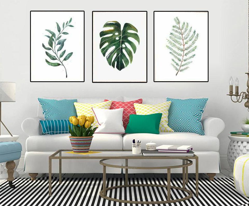 Sự kết hợp hài hòa giữa tranh tường, nội thất khiến không gian long lanh hơn