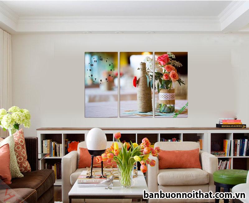 Các công ty thiết kế nội thất ở Hà Nội cũng có bán tranh Đồng hồ.