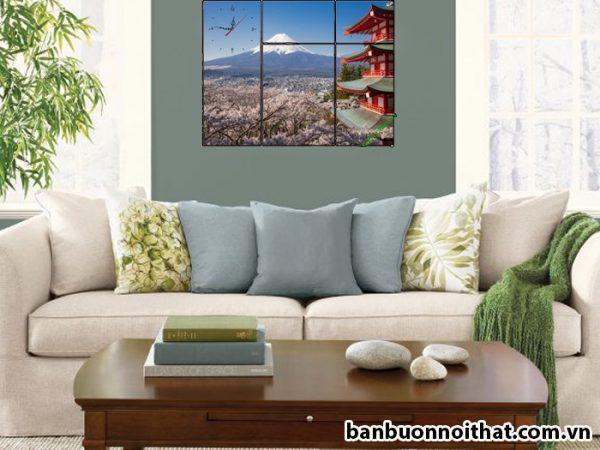 Bán buôn tranh phong cảnh núi phú sĩ tại xưởng sản xất đồng hồ tranh Amia