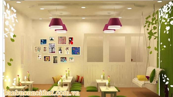 Bộ tranh khung trang trí quán cafe sắc màu