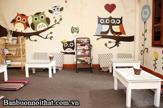 Xu hướng chọn tranh hoạt hình trang trí quán cà phê phong cách trẻ