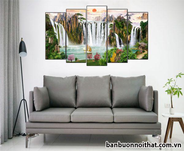 Tranh phong cảnh, phong thủy trang trí phòng khách hiện đại