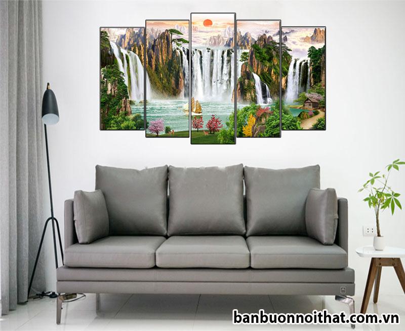 Tranh phong cảnh phong thủy được bán buôn tại xưởng sản xuất tranh Amia