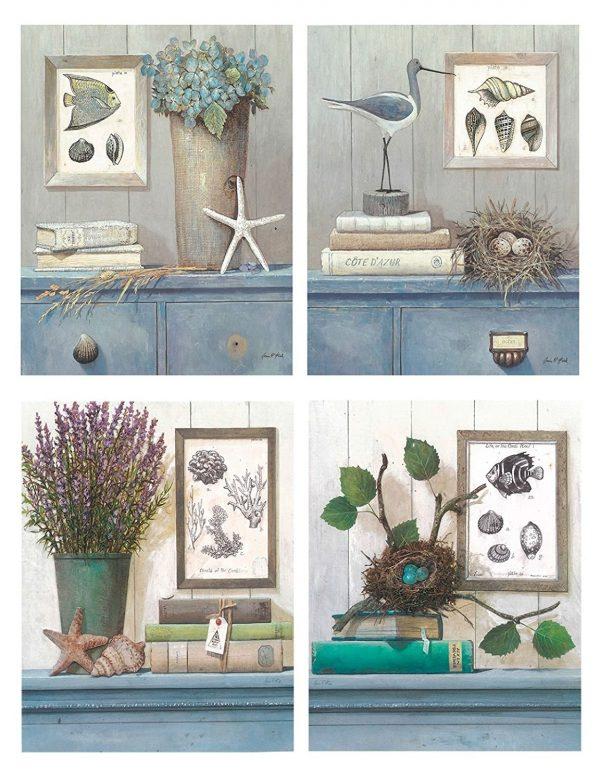 Tranh Vintage trang trí nhiều không gian như quán cà phê, phòng khách, phòng ngủ,...