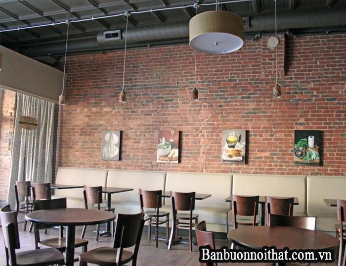 Tranh trang trí nhiều tấm kết hợp nội thất màu gỗ
