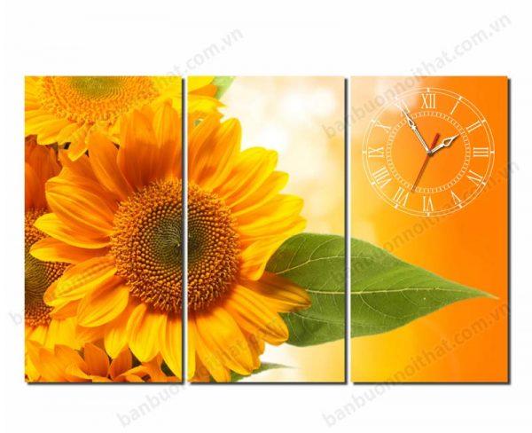 Bán buôn bán sỉ đồng hồ tranh hoa hướng dương mang vượng khí cho gia chủ