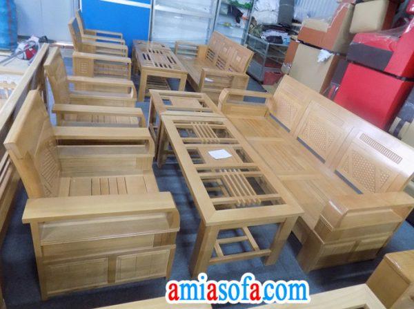 Bán buôn bộ sofa, bàn ghế gỗ tại kho sofa