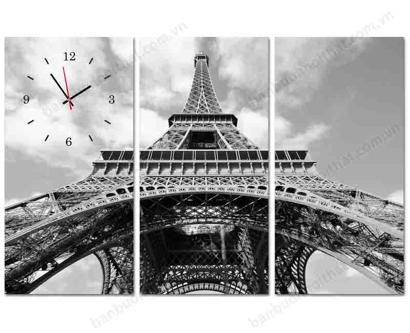 Mẫu tranh đồng hồ tháp Eiffel luôn gắn liền với sự sang trọng, tinh tế và lãng mạn
