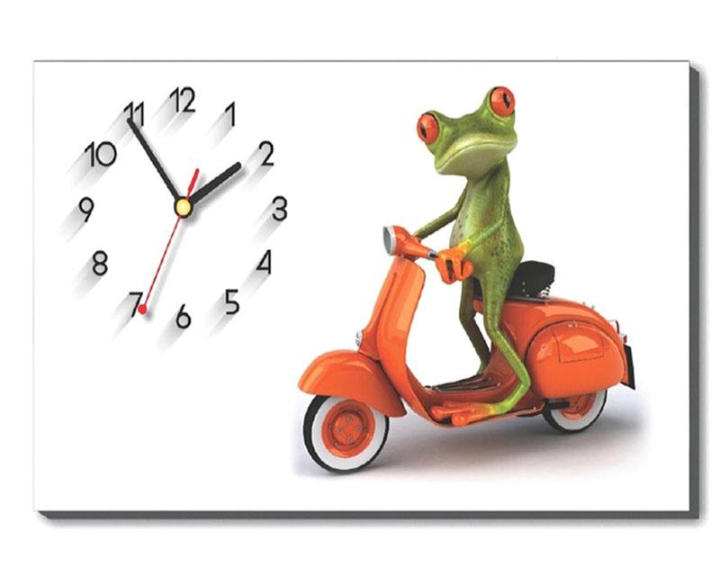 Mẫu tranh đồng hồ để bàn chú ếch xanh trang trí bàn học, bàn làm việc cho bạn trẻ cá tính