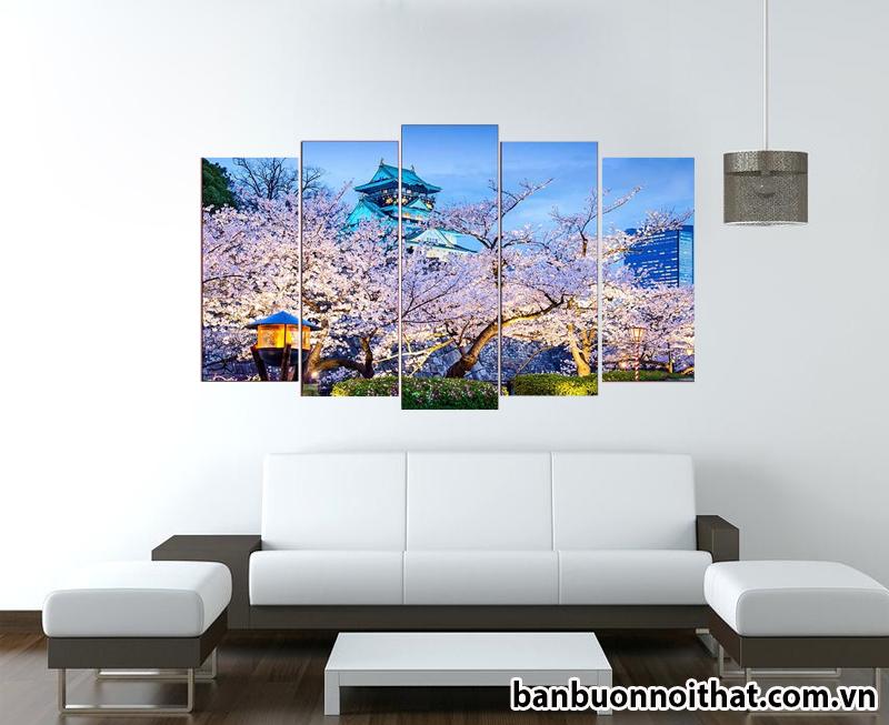 Tranh đồng hồ ghép phong cảnh thành phố Tokyo