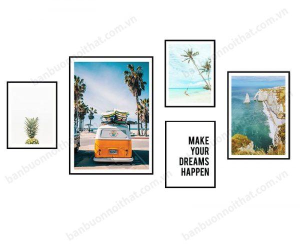 Mẫu tranh in canvas trang trí phòng khách hoặc phòng ngủ