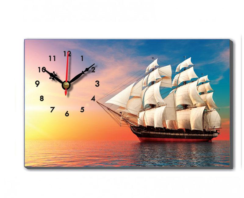 Tranh đồng hồ để bàn thuận buồm xuôi gió tạo động lực thích hợp để bàn làm việc cho bạn nam
