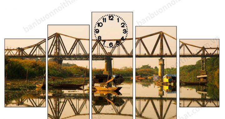 Tranh đồng hồ phong cảnh Hà Nội, nơi mua, địa chỉ bán