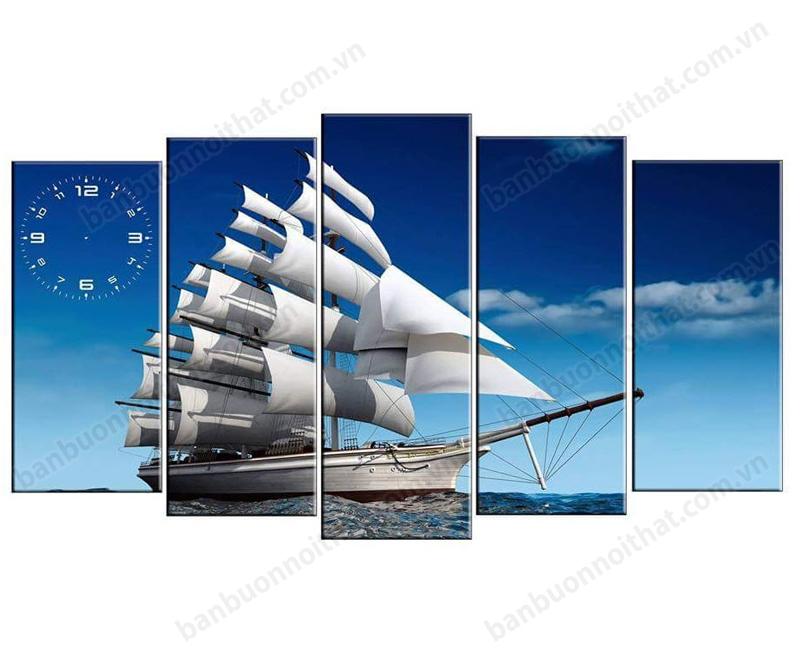 Mẫu tranh đồng hồ thuận buồm xuôi gió bán chạy nhất tại Amia