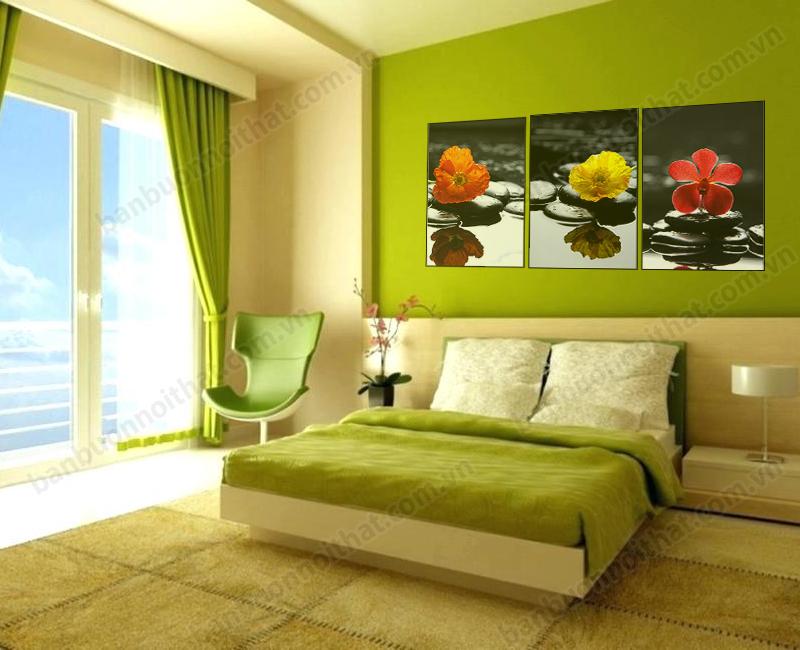 Mẫu tranh trang trí Spa được dùng để trang trí phòng khách sạn rất đẹp