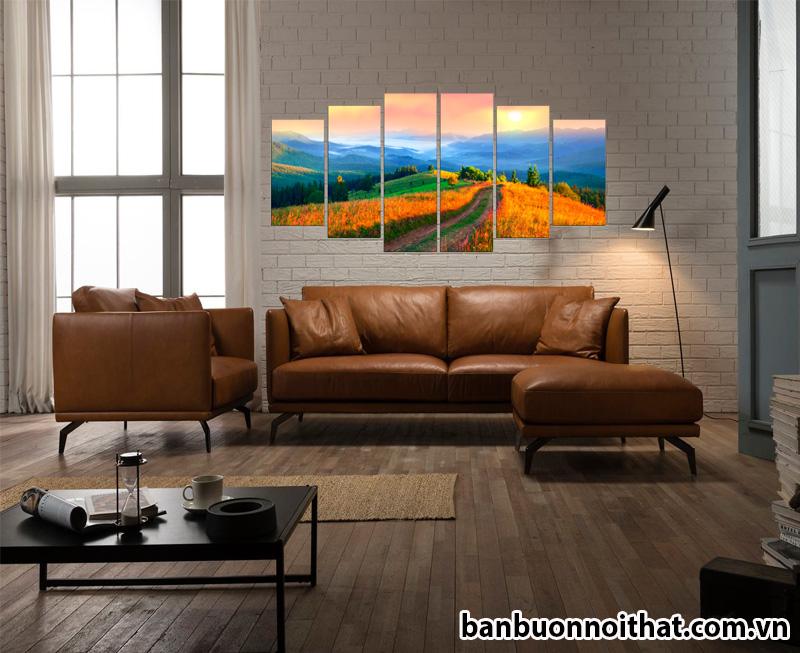Tranh treo tường phong cảnh Amia 1434 được dùng để trang trí phòng khách đẹp