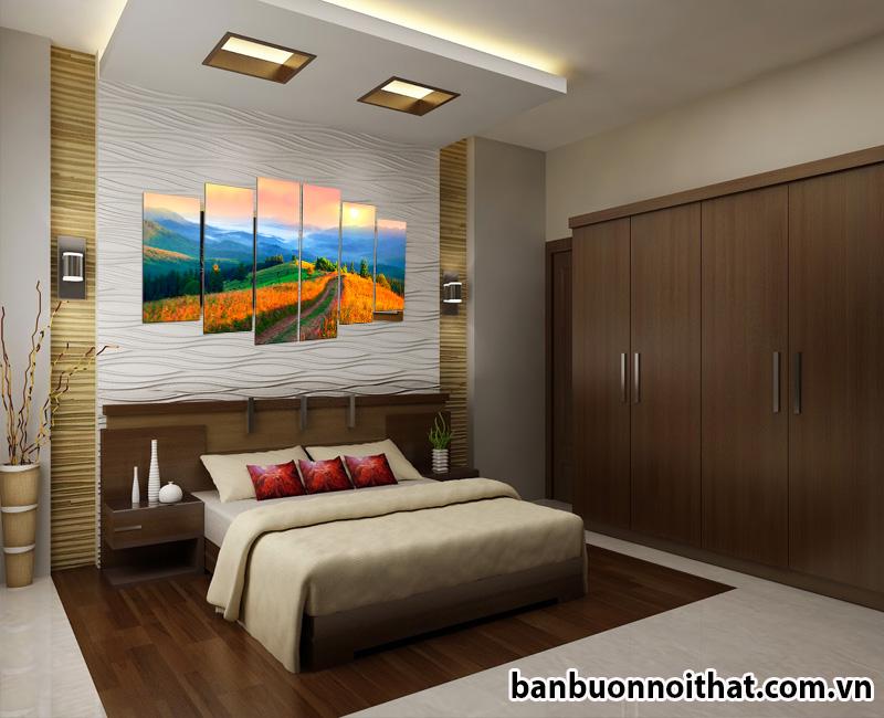 Tranh treo tường phong cảnh Amia 1434 được dùng để trang trí phòng ngủ đẹp