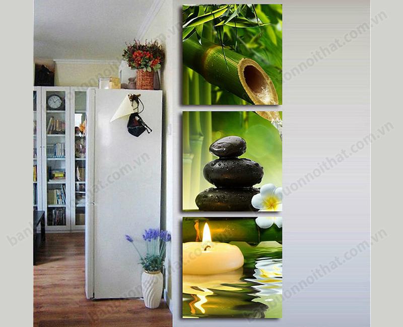 Một mẫu tranh đồng hồ trang trí Spa khác được dùng để trang trí ốp tường phòng khách