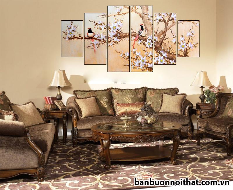Mẫu tranh treo tường hiện đại trang trí phòng cách tân cổ điển