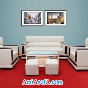 Bộ sofa tay gỗ trang trí văn phòng đẹp