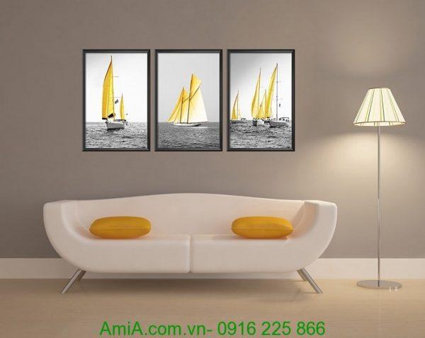 Mẫu tranh thuyền buồm đẹp