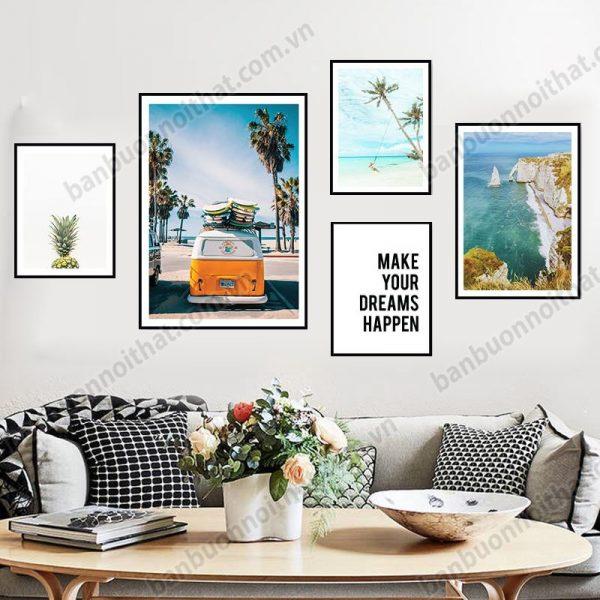 Hình ảnh bộ khung tranh canvas mua fhef sôi động, nơi mua, địa chỉ bán