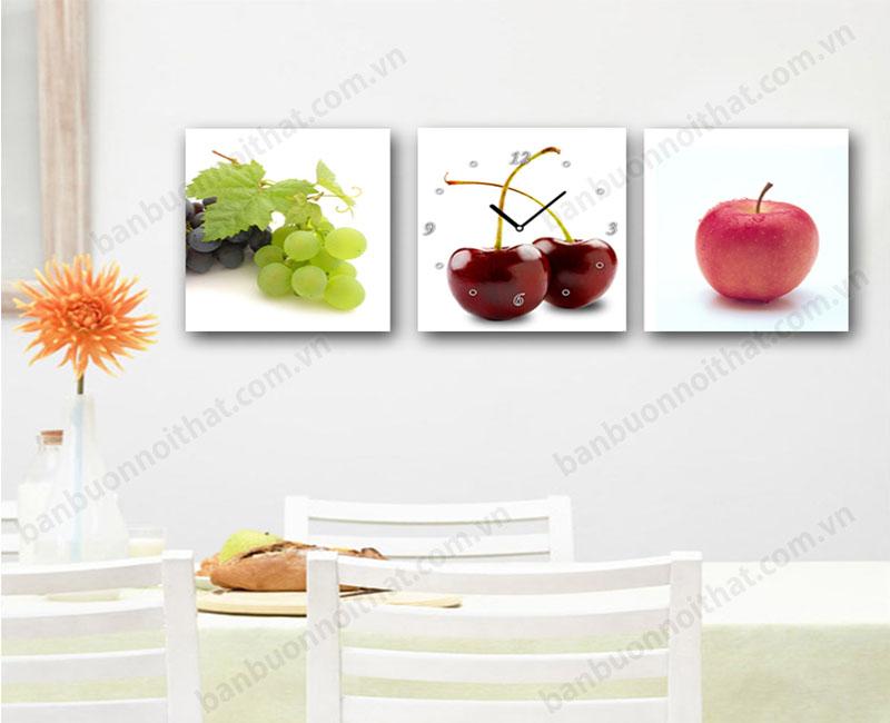 Tranh đồng hồ trang trí phòng ăn đẹp. mẫu tranh, nơi bán, địa chỉ mua