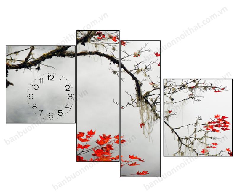 Vẻ đẹp thơ mộng trong mẫu đồng hồ tranh phong cảnh thiên nhiên mùa thay lá
